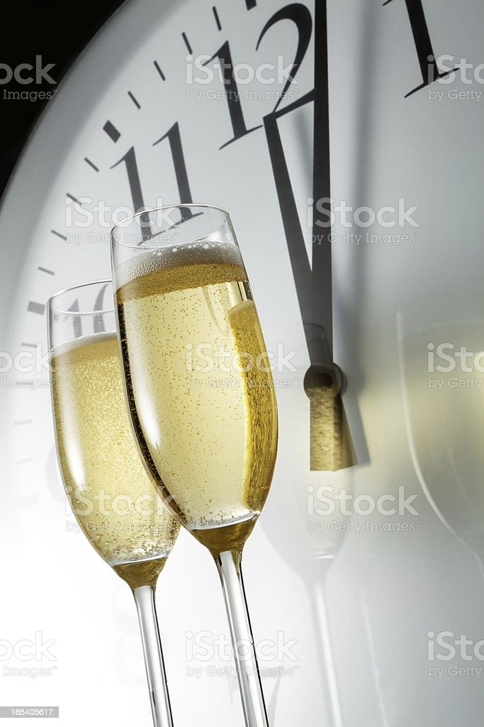 Drink Stills: Champagne and New Year royalty-free stock photo