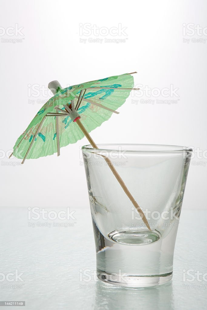 Drink Umbrella in a shot glass royalty-free stock photo