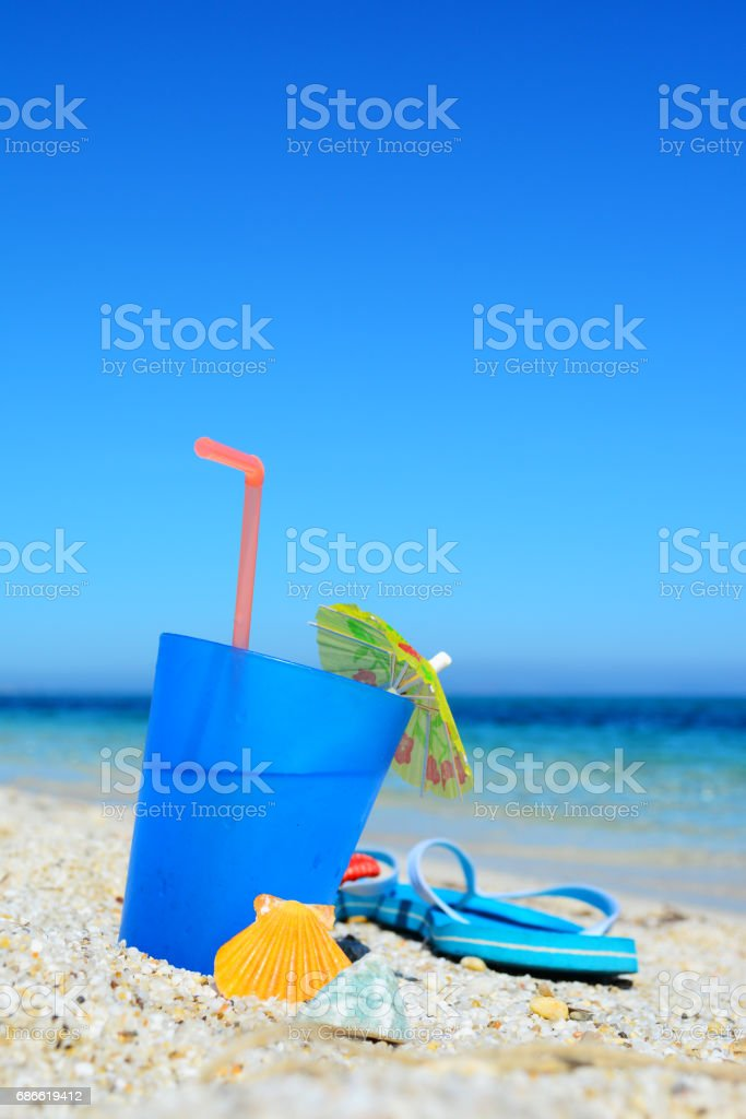 drink under a blue sky royalty-free stock photo