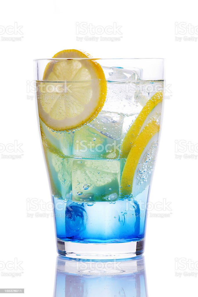 Drink with blue curacao royalty-free stock photo