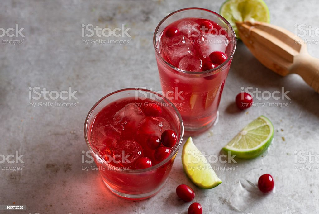 Drink with cranberry stock photo