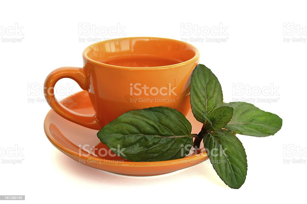 drink with mint leaves royalty-free stock photo