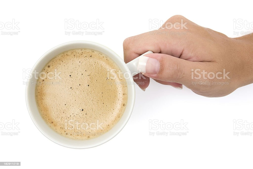Drinking a Cup of Coffee royalty-free stock photo
