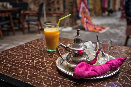 drinking a fresh Morrocan tea (HDRi)