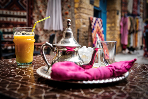 drinking a fresh Morrocan tea (HDRi)