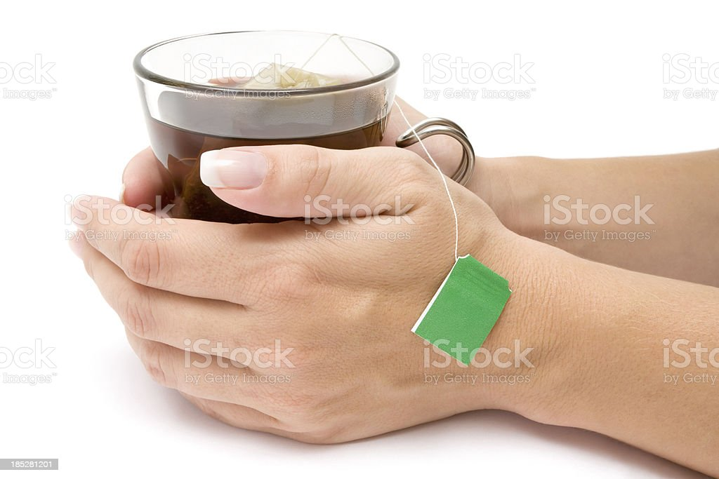 Drinking a Glass of Tea royalty-free stock photo