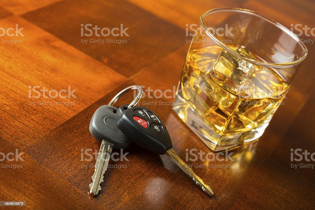 Drinking and driving concept stock photo