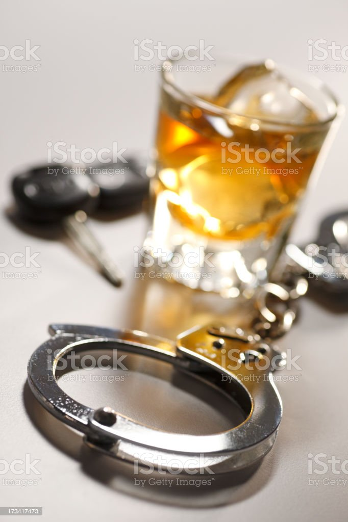 Drinking and Driving royalty-free stock photo