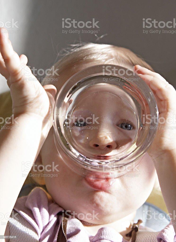drinking baby stock photo