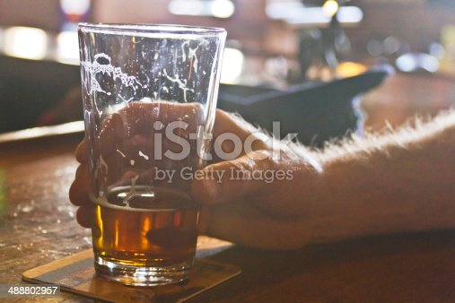 istock Drinking Beer At the Bar 488802957