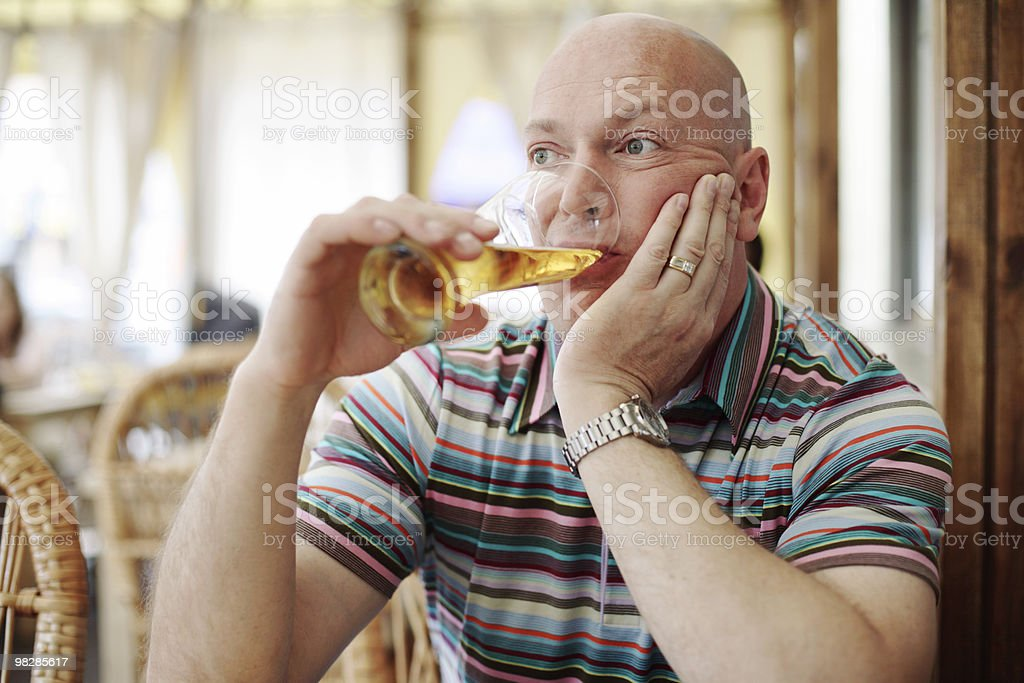 Drinking Beer royalty-free stock photo