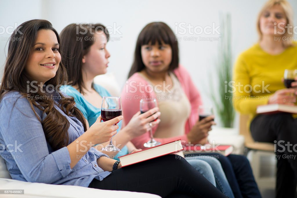 Drinking Books Together stock photo