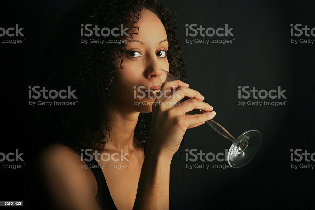 Drinking champagne! royalty-free stock photo