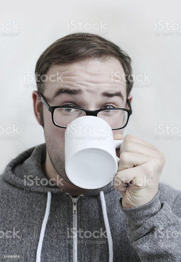 drinking coffee or tea stock photo