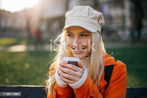 870648602 istock photo Drinking coffee 1136470907
