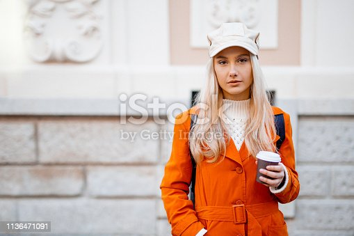 870648602 istock photo Drinking coffee 1136471091