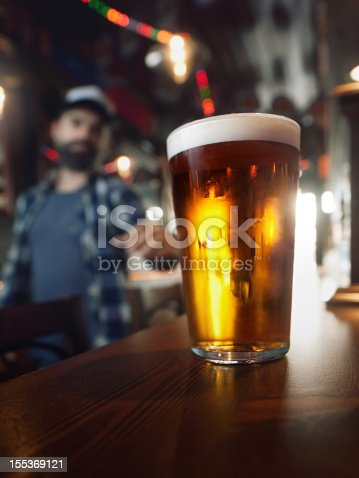 istock Drinking craft beer. 155369121