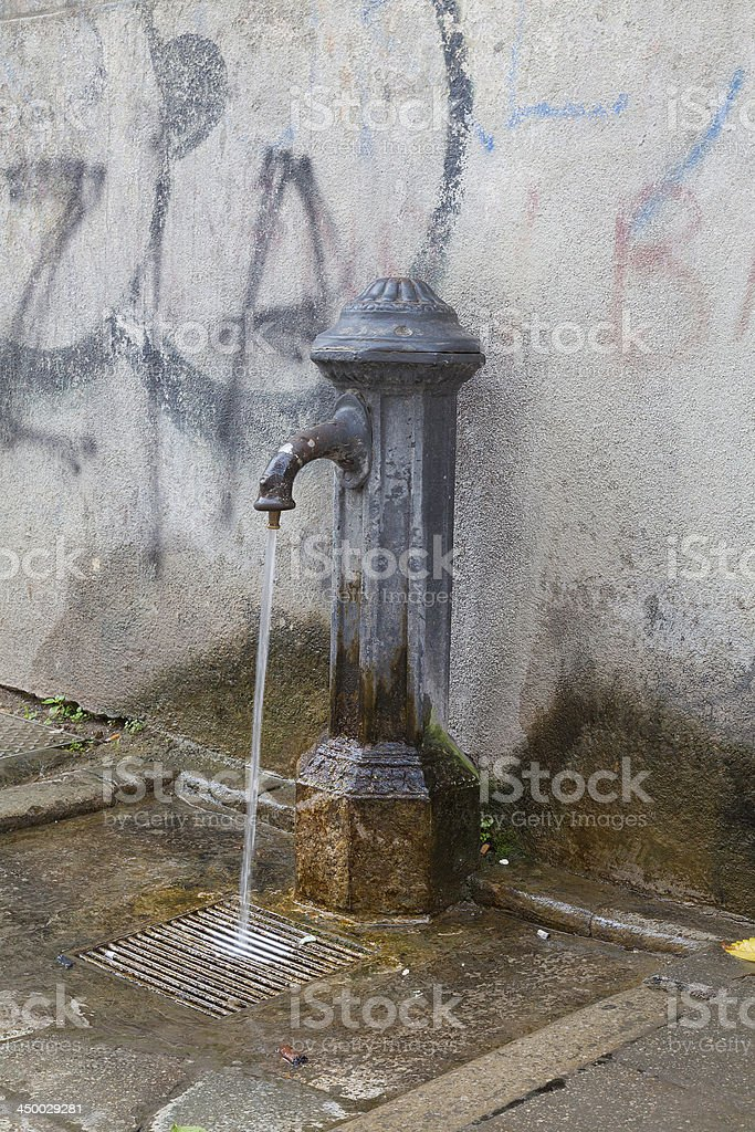Drinking fountain in Vencie Italy royalty-free stock photo