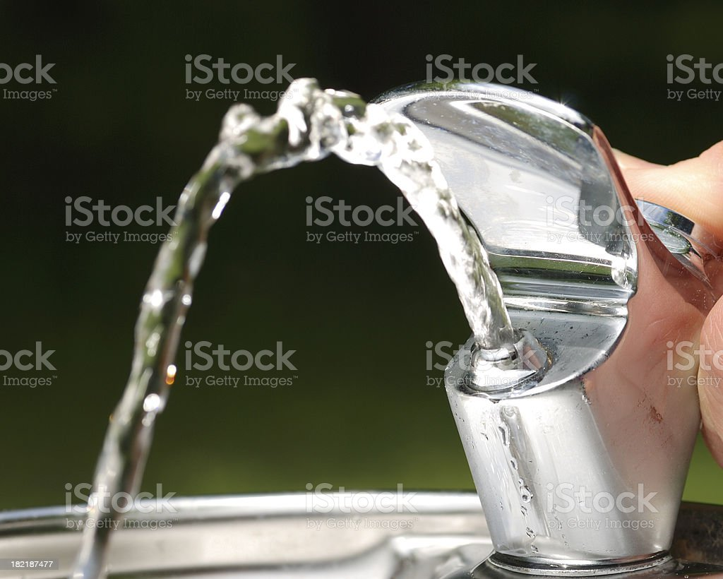 Drinking fountain. stock photo