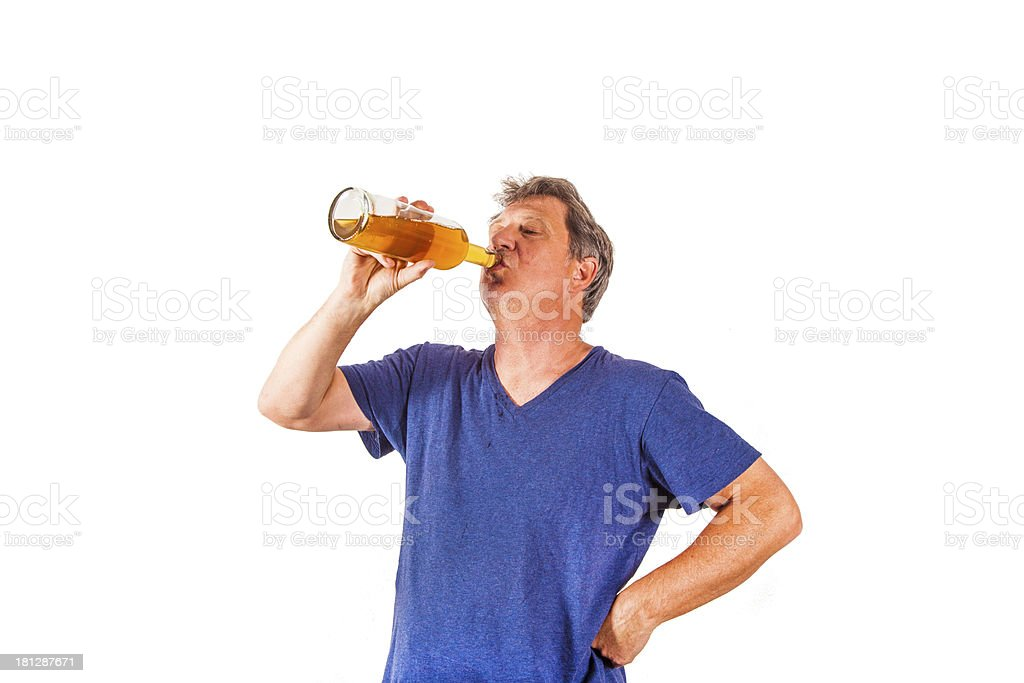 drinking man royalty-free stock photo