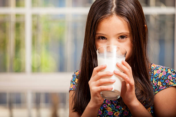 Drinking milk is good for you stock photo