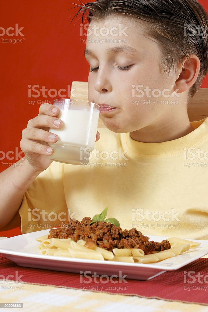 Drinking Milk royalty-free stock photo