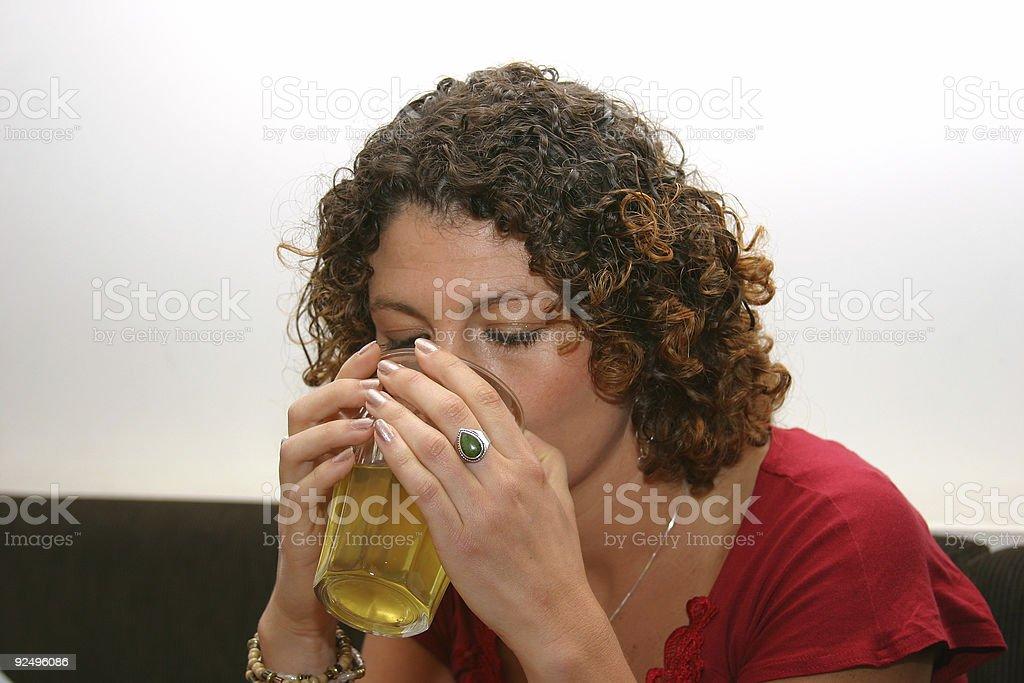 Drinking my tea royalty-free stock photo