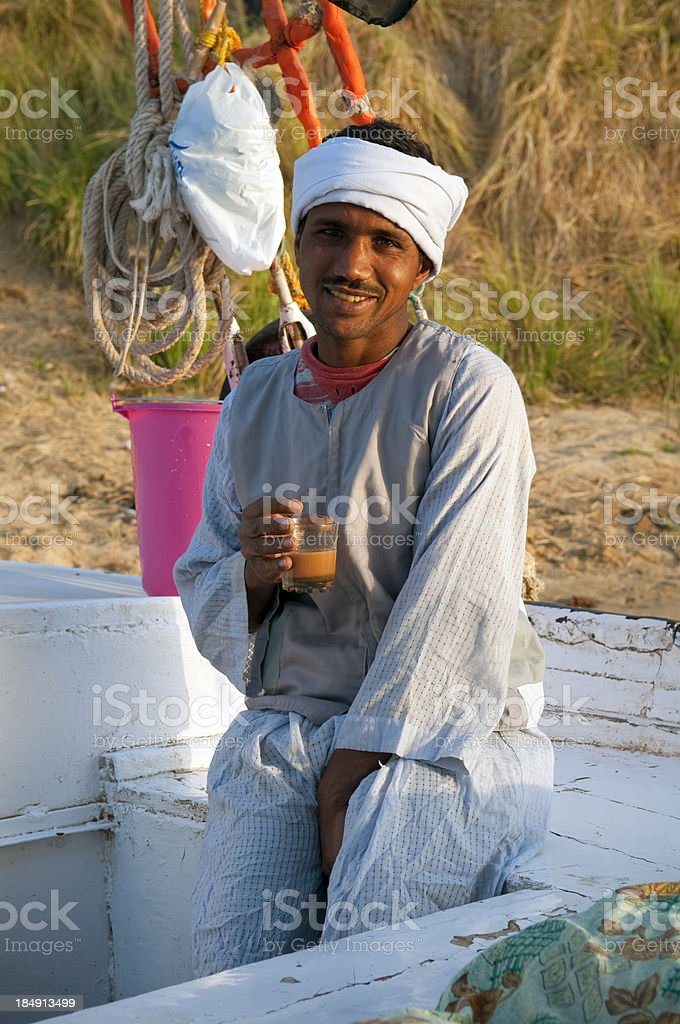 Drinking Nescafe in Egypt royalty-free stock photo