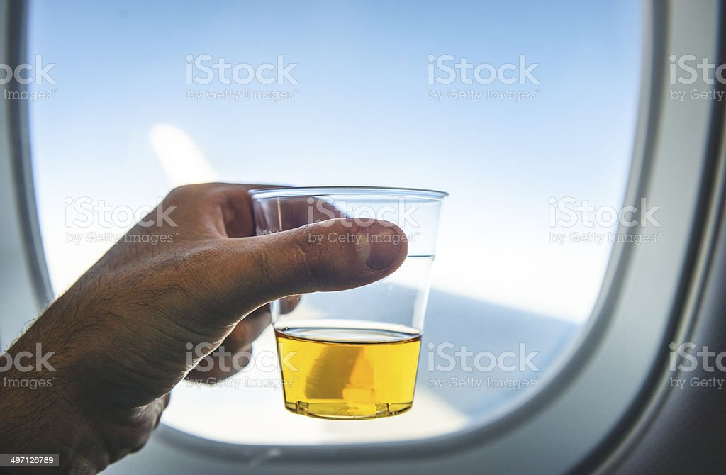 drinking on board stock photo