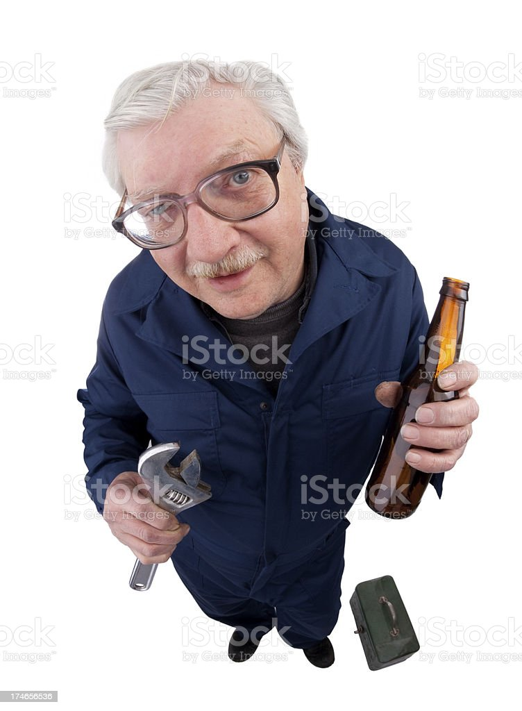 Drinking On The Job royalty-free stock photo