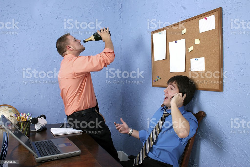 Drinking On The Job royalty-free stock photo