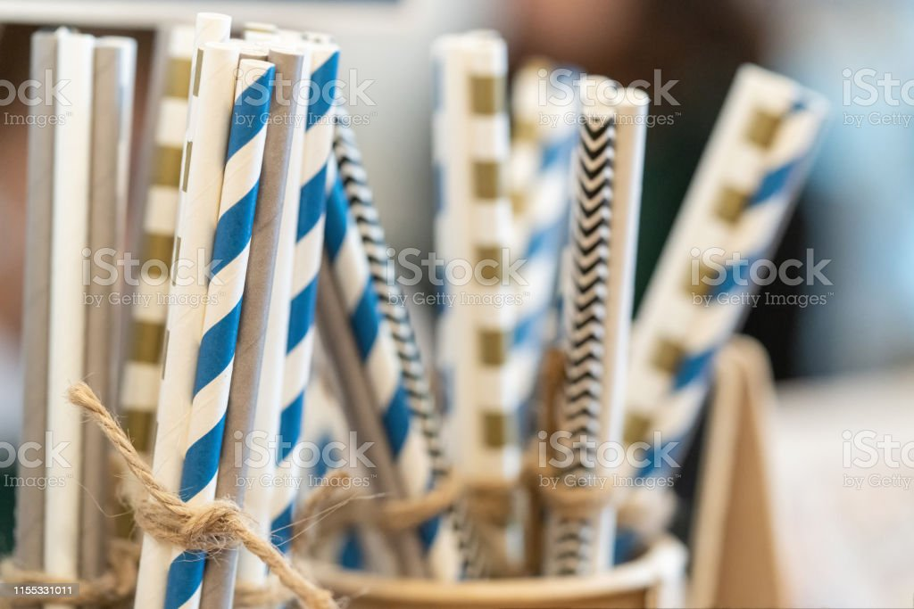 Drinking Paper Colorful Straws For Reusable And Reduce The