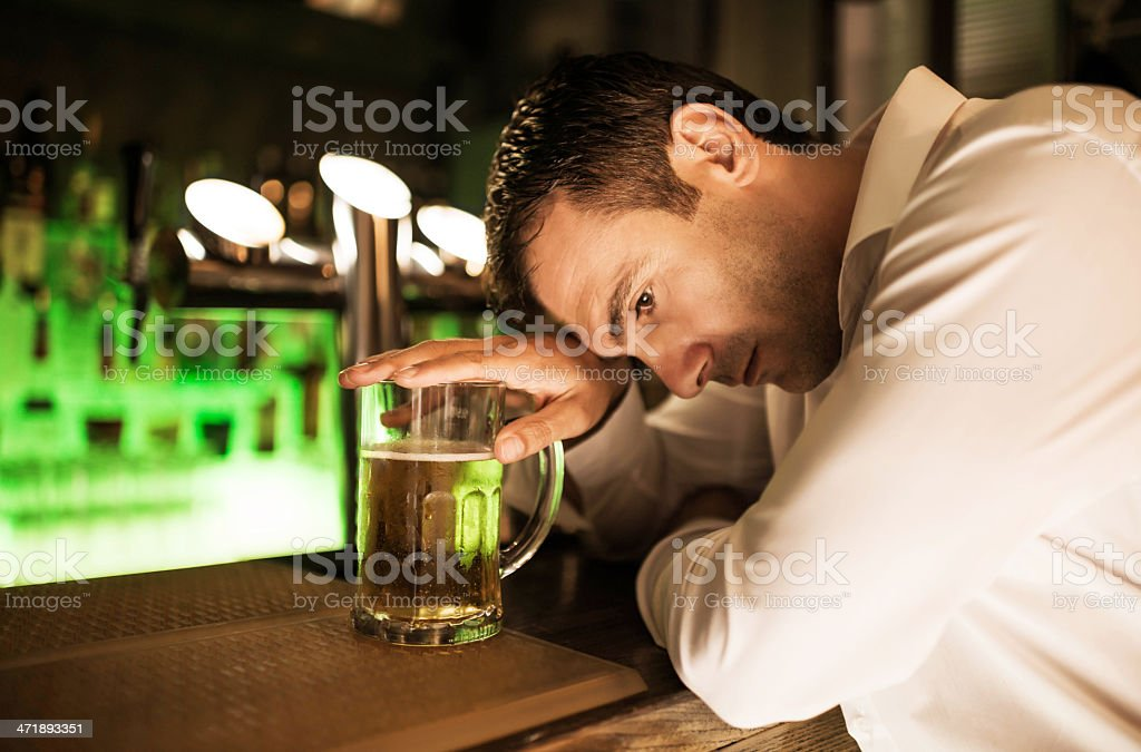 Drinking problems. royalty-free stock photo