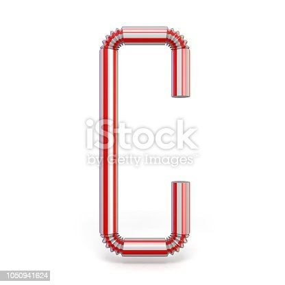 1050941648 istock photo Drinking straw font Letter C 3D 1050941624