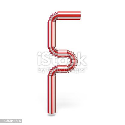1050941648 istock photo Drinking straw font Letter F 3D 1050941620