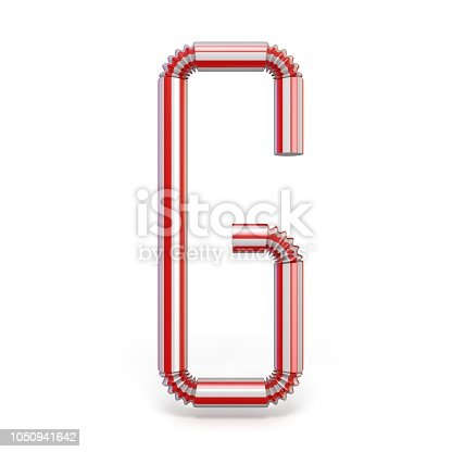 1050941648 istock photo Drinking straw font Letter G 3D 1050941642