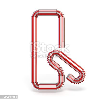 1050941648 istock photo Drinking straw font Letter Q 3D 1050941684
