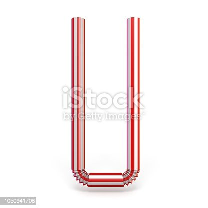 1050941648 istock photo Drinking straw font Letter U 3D 1050941708