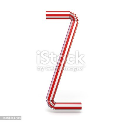 istock Drinking straw font Letter Z 3D 1050941738
