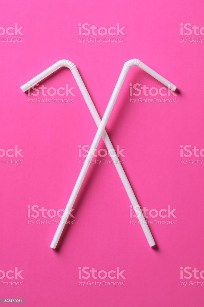 Drinking Straw For Summer Beach Cocktail Or Juice Stock Photo