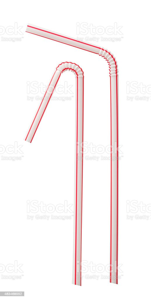 Drinking straw stock photo
