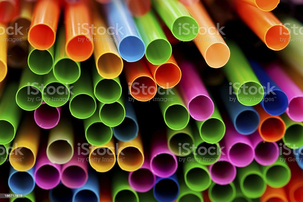 Drinking straws royalty-free stock photo