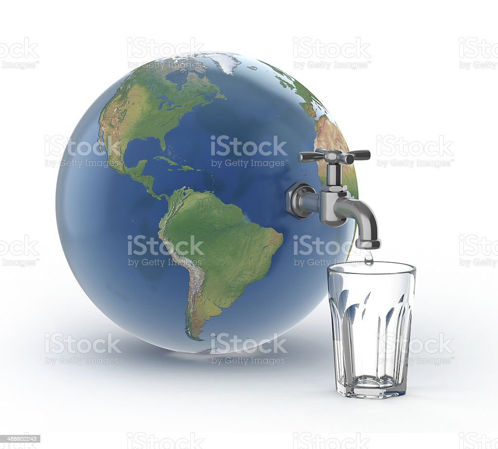 drinking water crisis - eco concept stock photo
