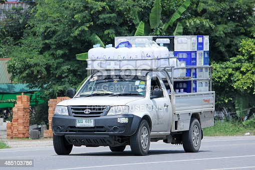 641289780 istock photo Drinking water delivery Pickup truck of Glacier company 485103786