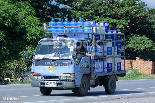 641289780 istock photo Drinking water delivery truck of Glacier company. 531282565