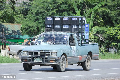 istock Drinking water delivery truck of Nam Nueng company 485583378