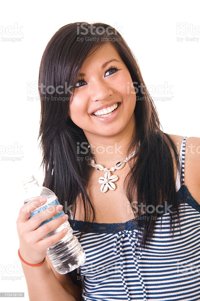 Drinking Water royalty-free stock photo