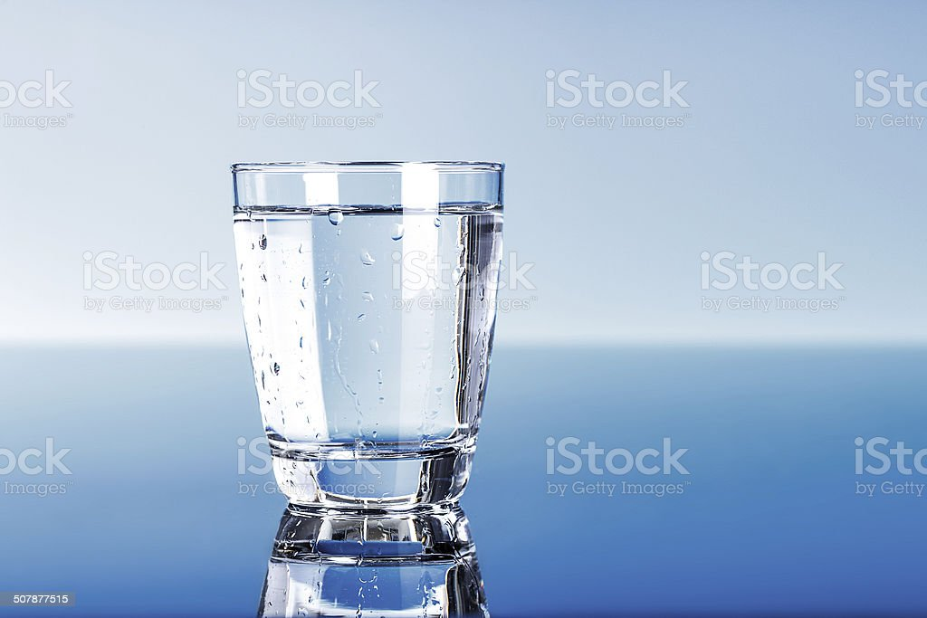 Drinking water stock photo