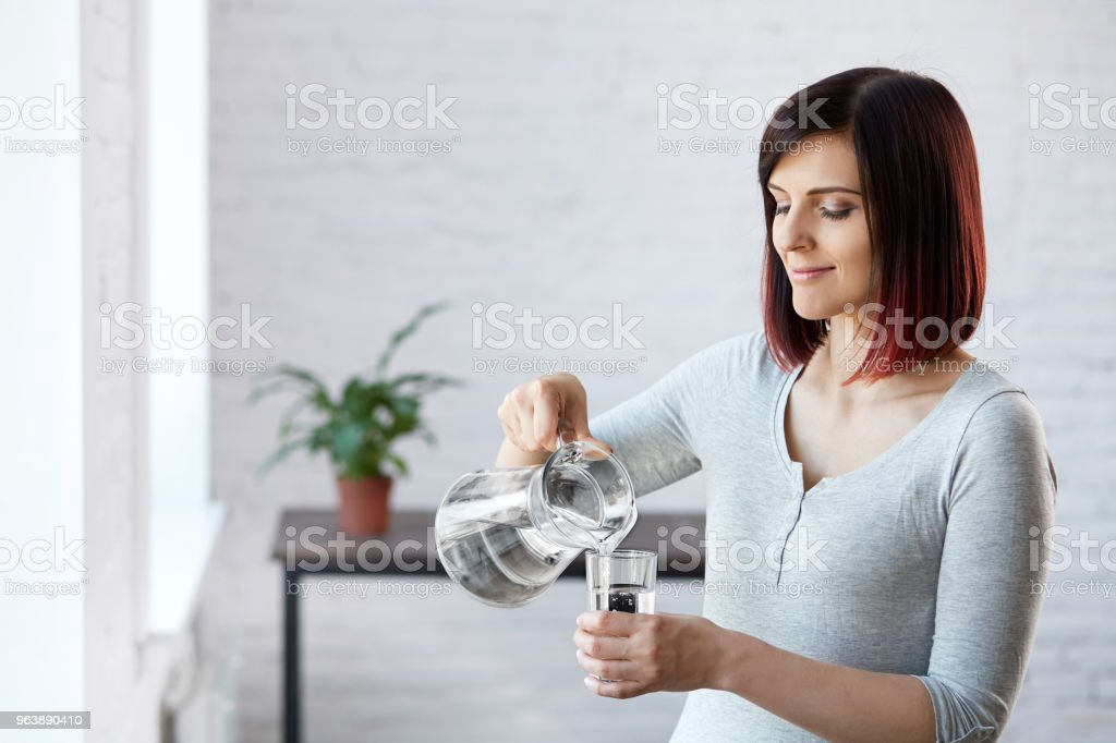 Drinking Water. - Royalty-free Adult Stock Photo