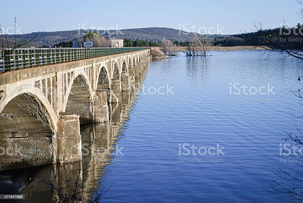 Drinking water reservoir stock photo